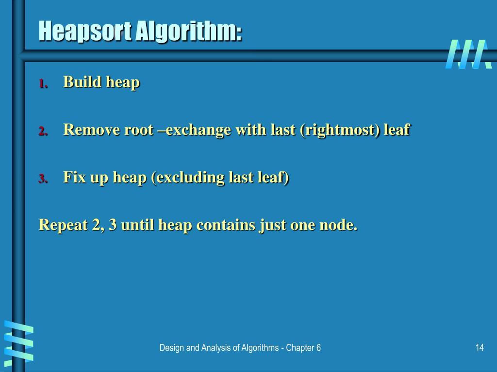 Heapsort Algorithm: