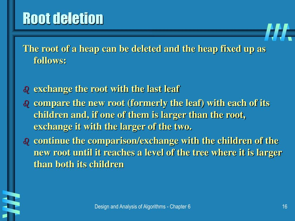 Root deletion