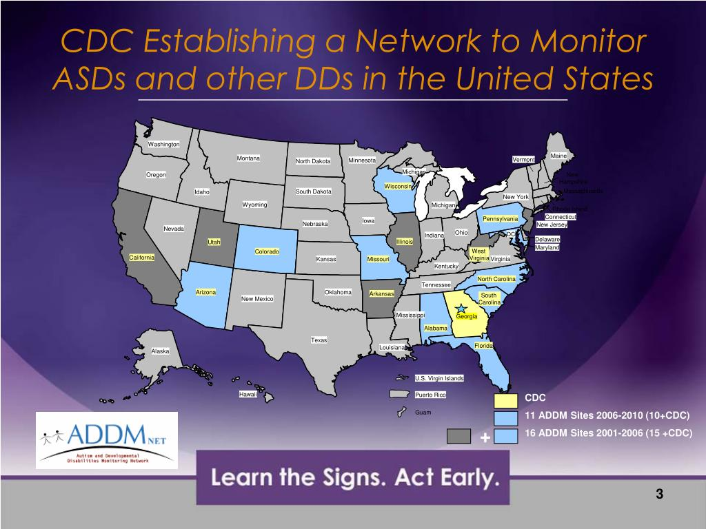 CDC Establishing a Network to Monitor ASDs and other DDs in the United States