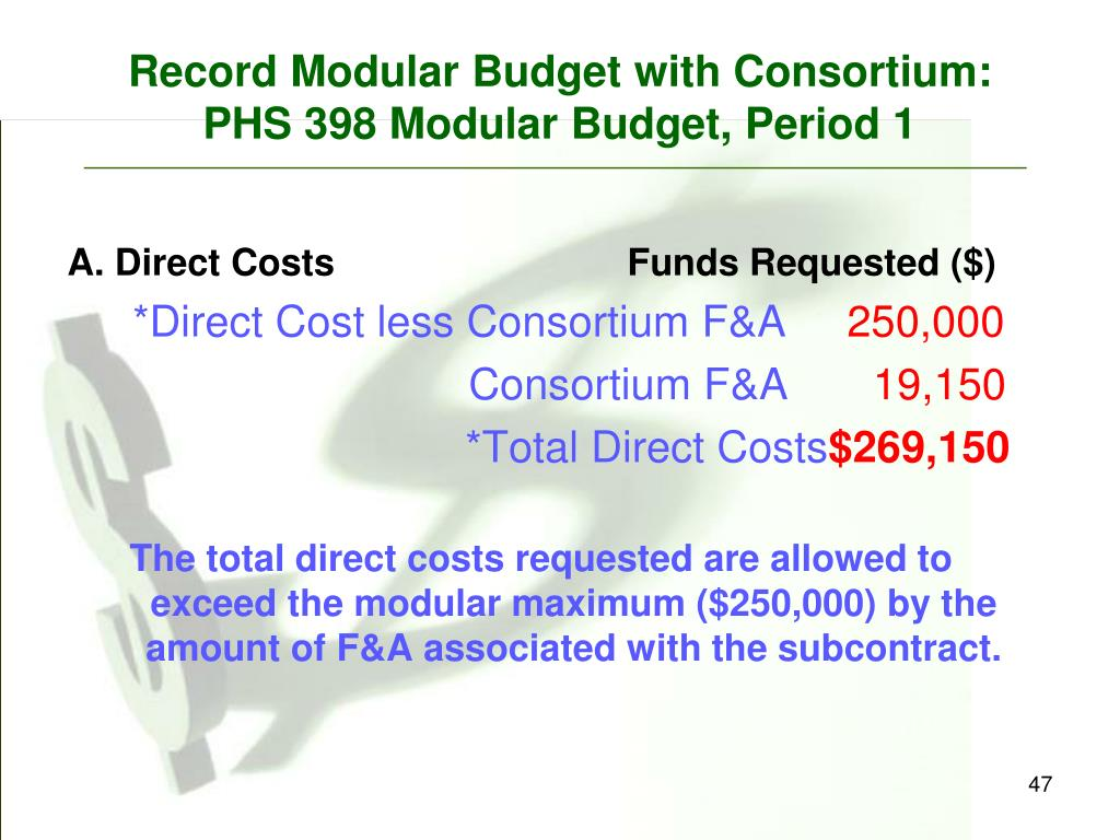 Record Modular Budget with Consortium: