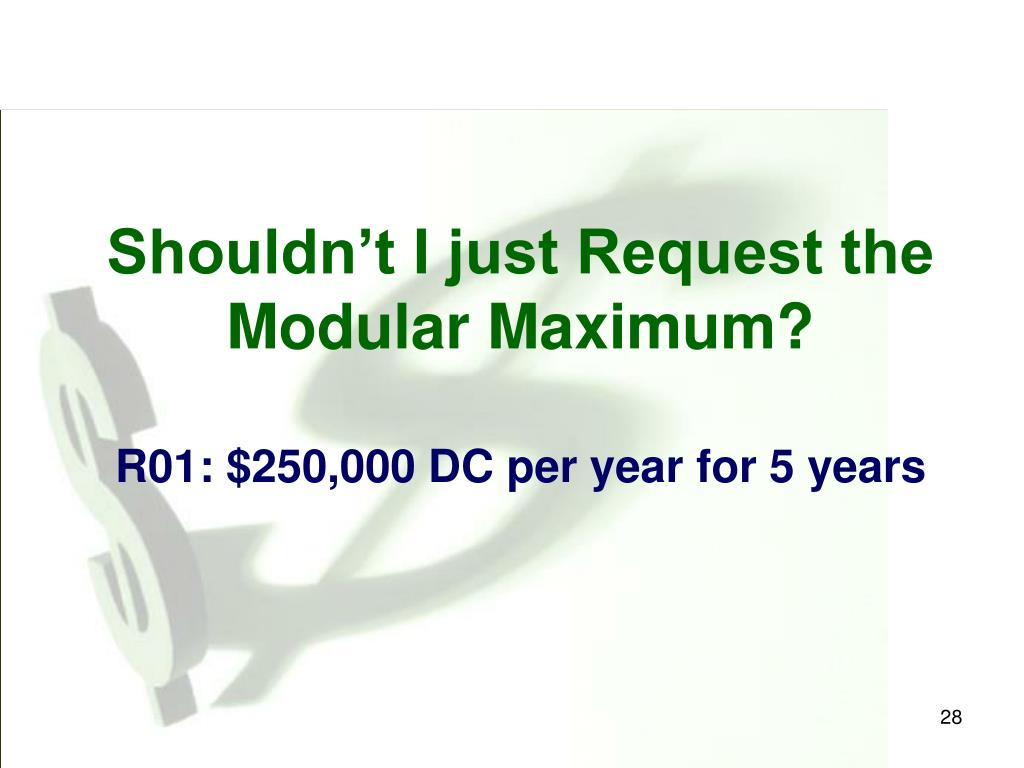 Shouldn't I just Request the Modular Maximum?