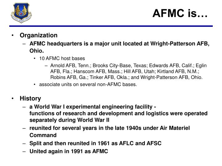 AFMC is…