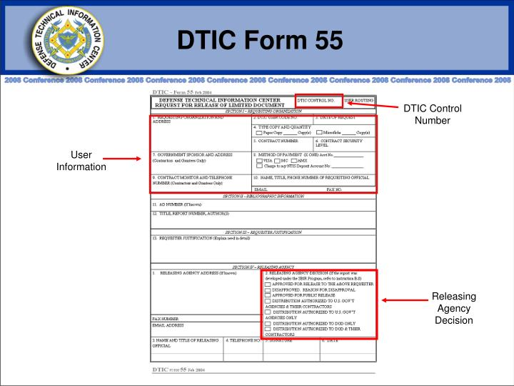DTIC Form 55