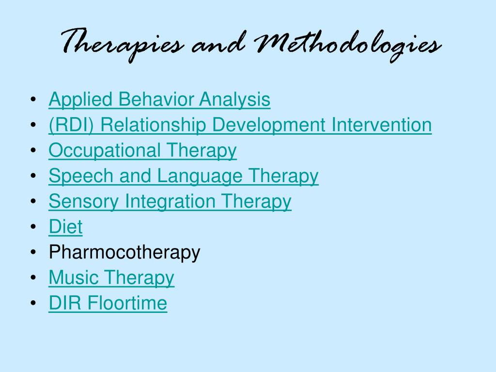 Therapies and Methodologies