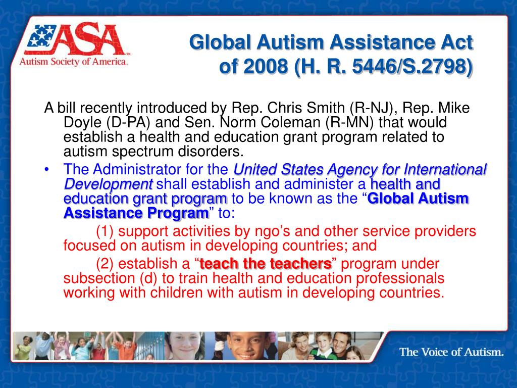 Global Autism Assistance Act