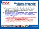 global autism assistance act of 2008 h r 5446 s 2798