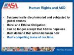 human rights and asd