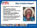 why is autism unique