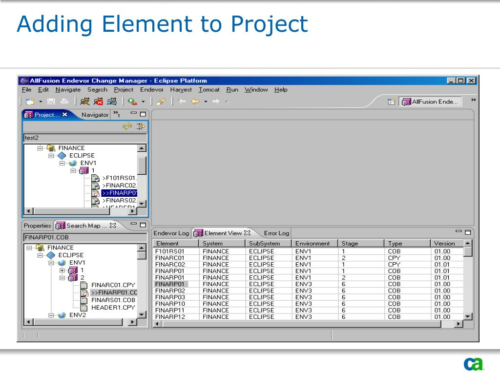 Adding Element to Project