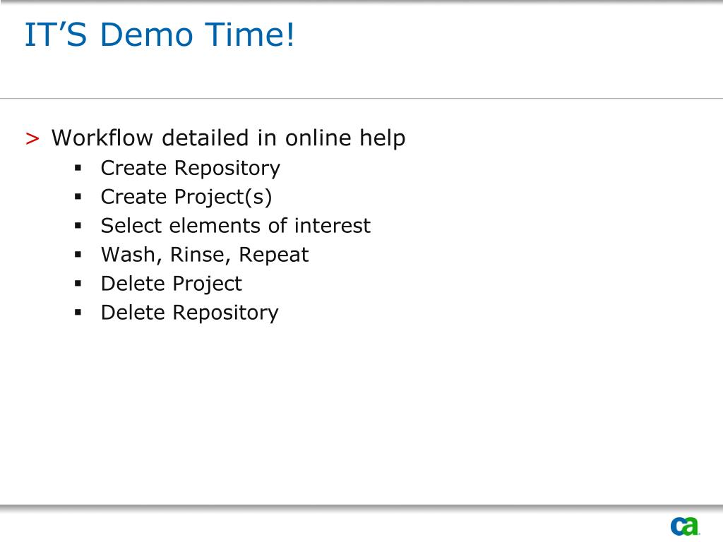 IT'S Demo Time!