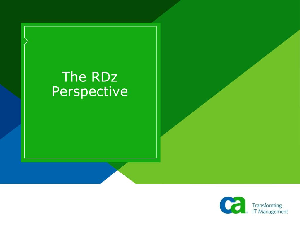 The RDz Perspective