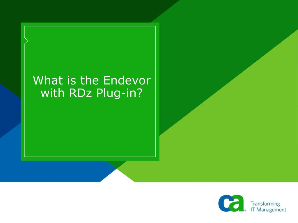 What is the Endevor with RDz Plug-in?