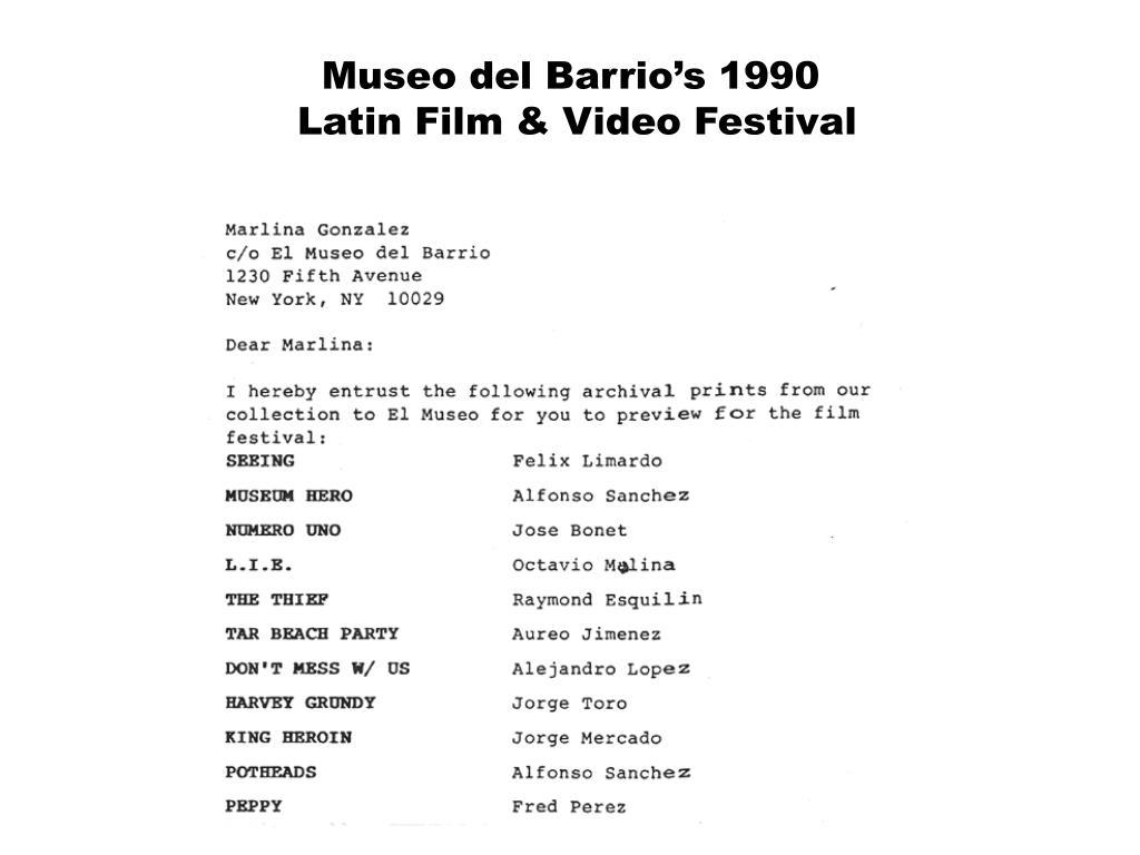 Museo del Barrio's 1990