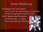 doctor shadowing