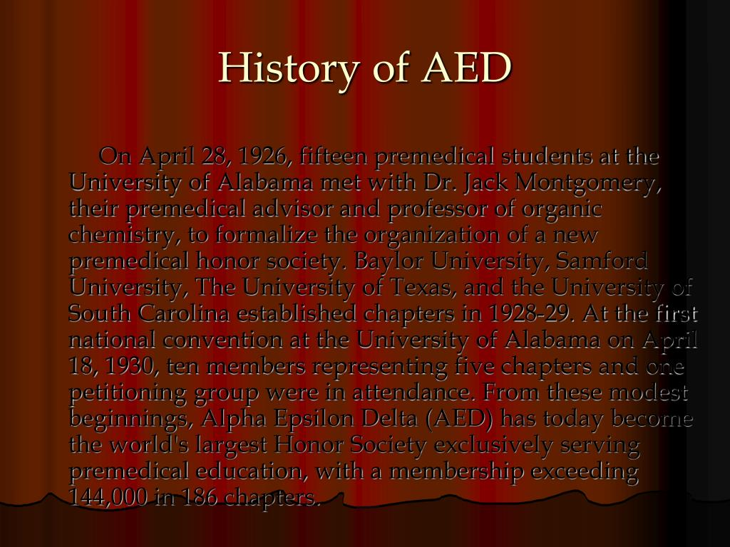 History of AED