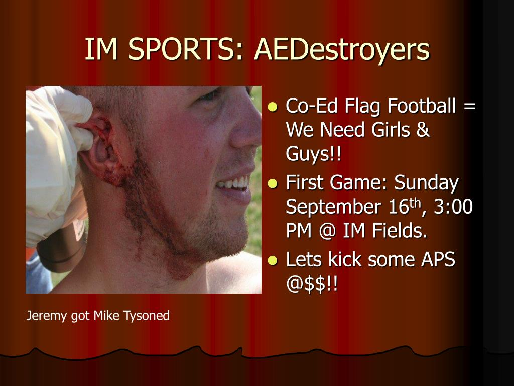 IM SPORTS: AEDestroyers