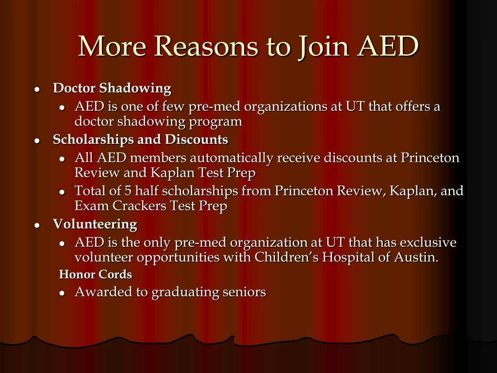 More Reasons to Join AED