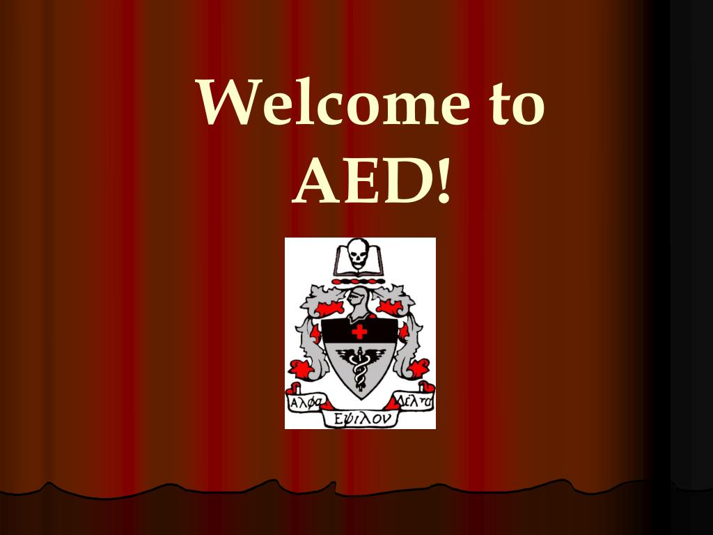 Welcome to AED!