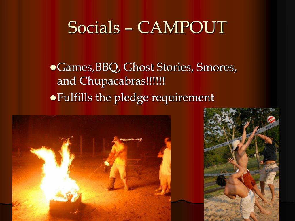 Socials – CAMPOUT