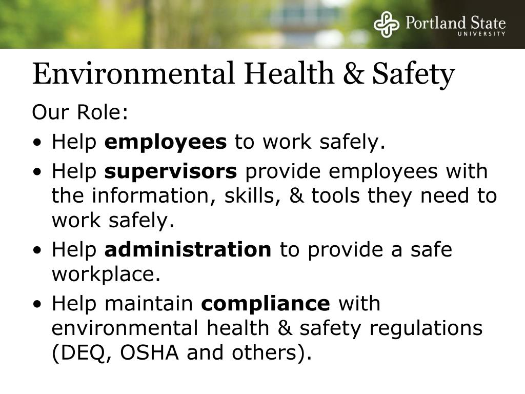 Environmental Health & Safety