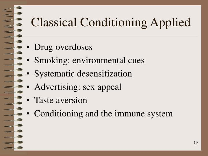 Classical Conditioning Applied