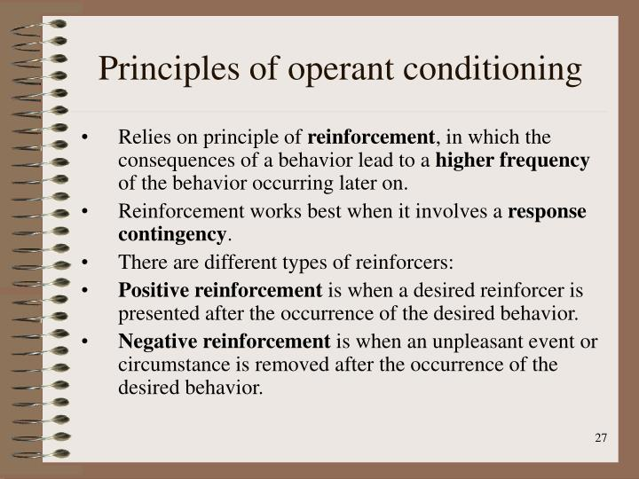 Principles of operant conditioning