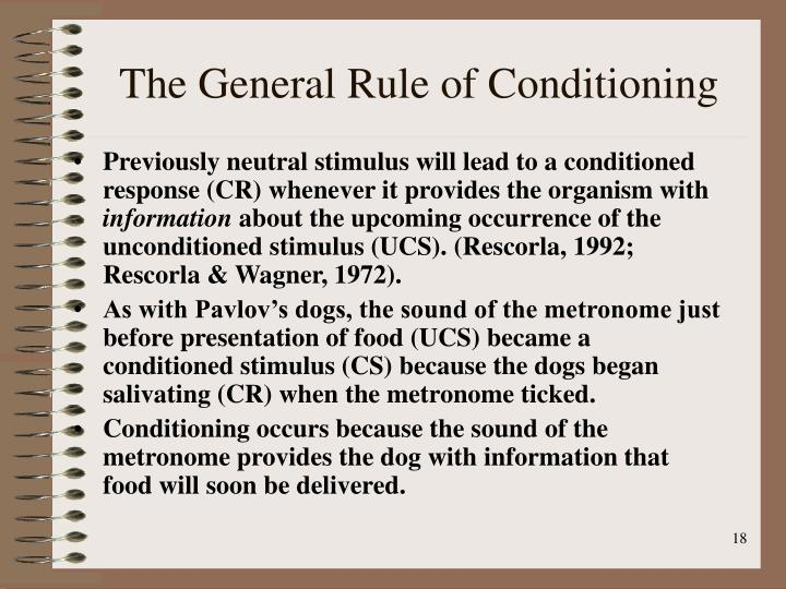 The General Rule of Conditioning