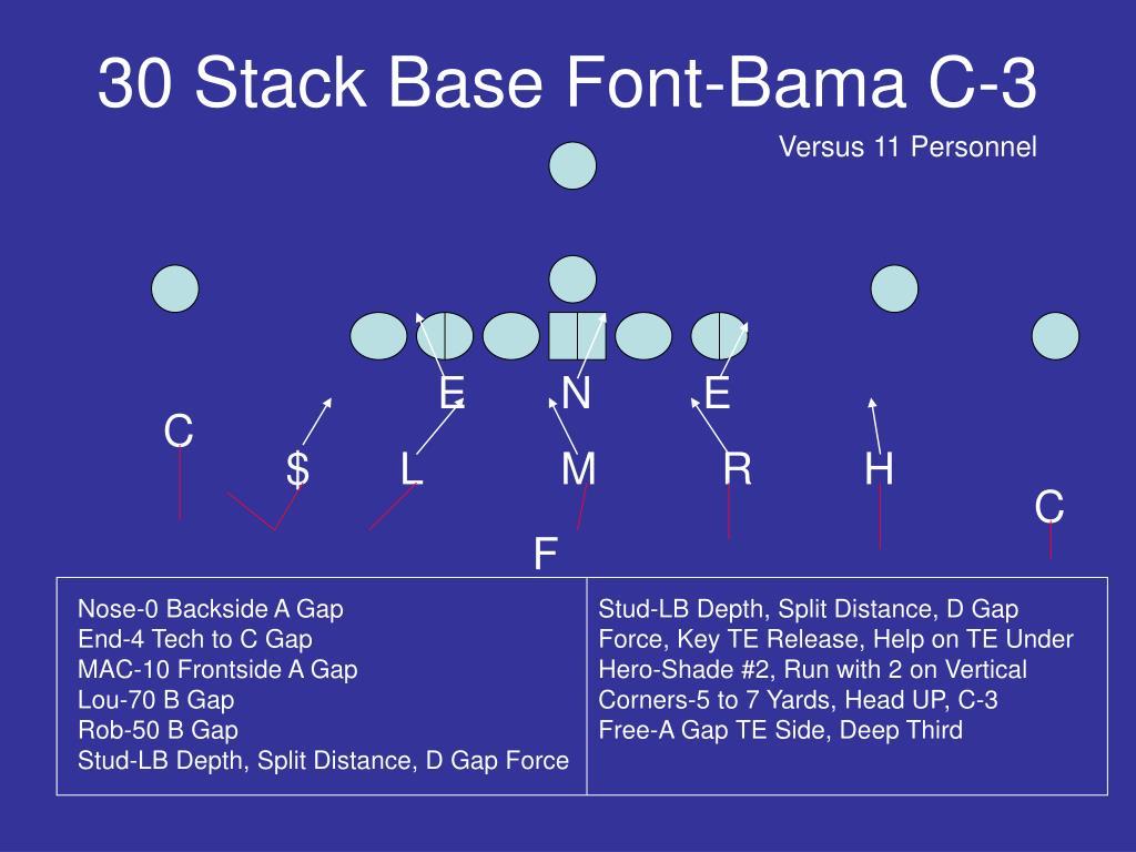30 Stack Base Font-Bama C-3