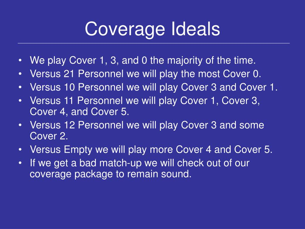 Coverage Ideals