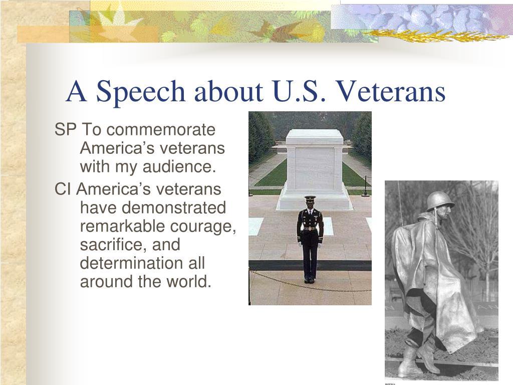 A Speech about U.S. Veterans