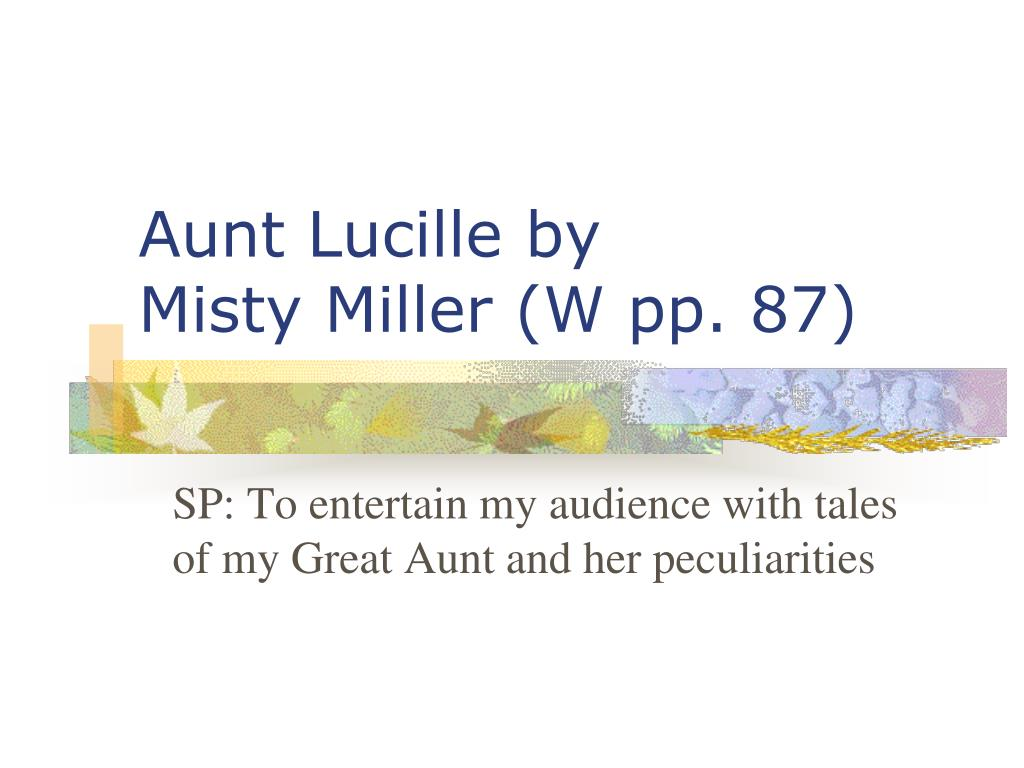 Aunt Lucille by