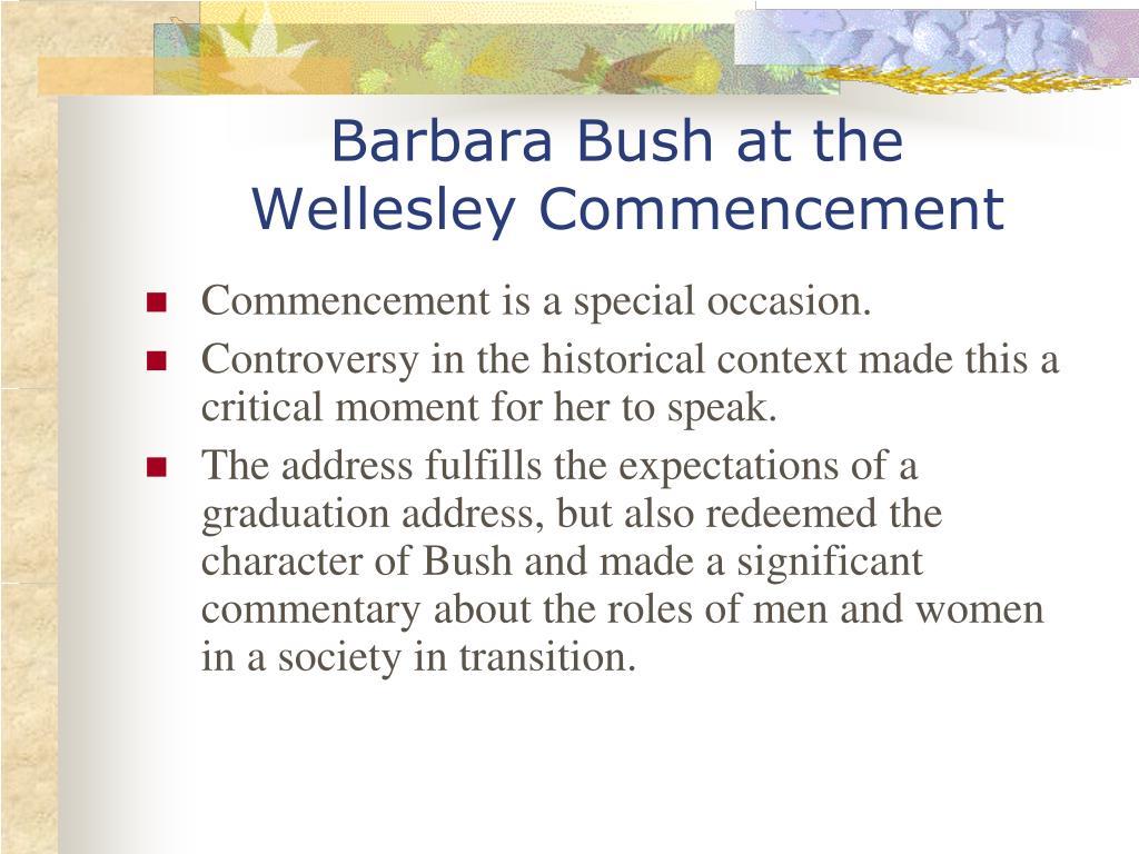 Barbara Bush at the