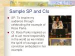 sample sp and cis
