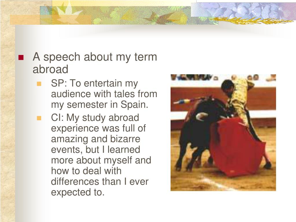 A speech about my term abroad