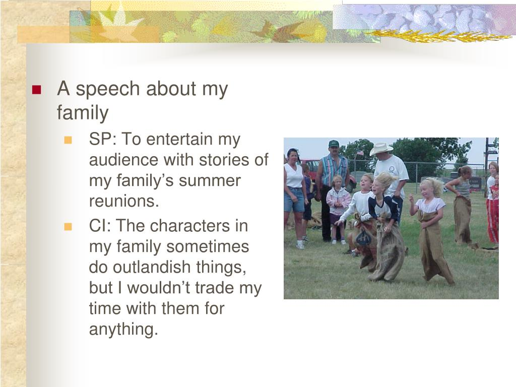A speech about my family