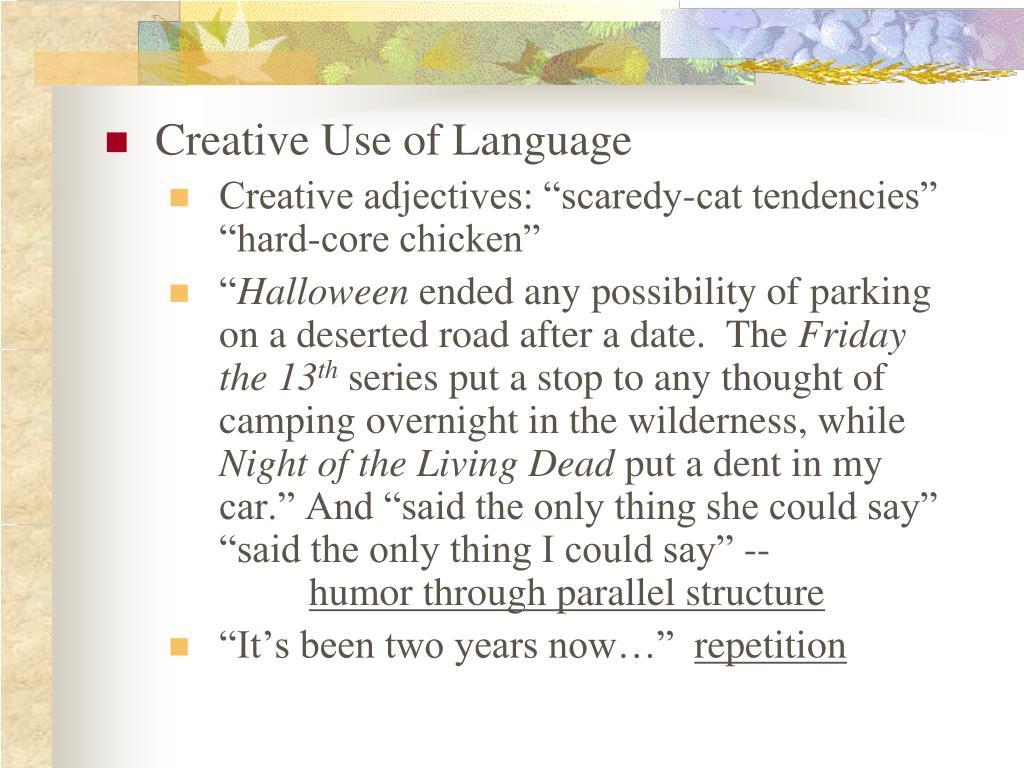 Creative Use of Language