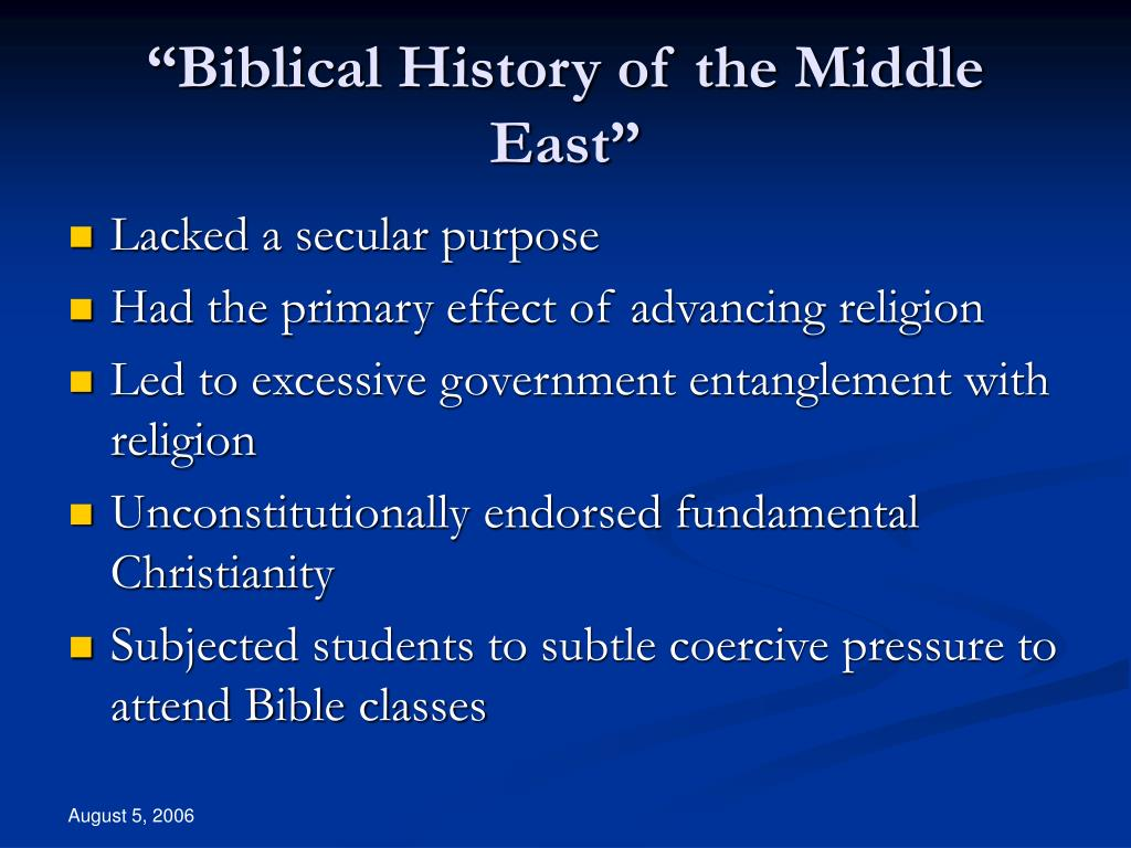 """""""Biblical History of the Middle East"""""""