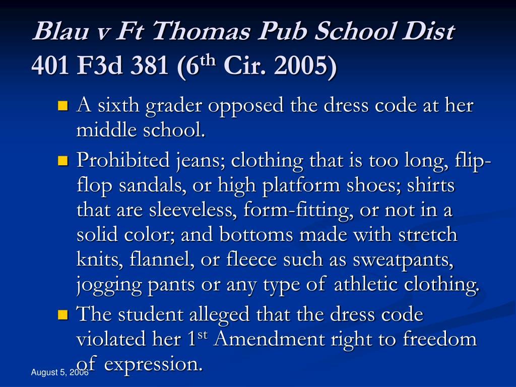 Blau v Ft Thomas Pub School Dist