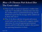 blau v ft thomas pub school dist the court ruled