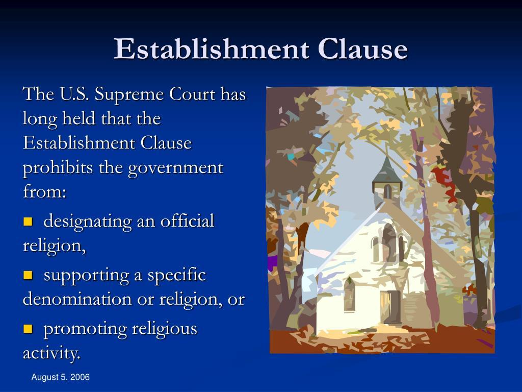 Establishment Clause