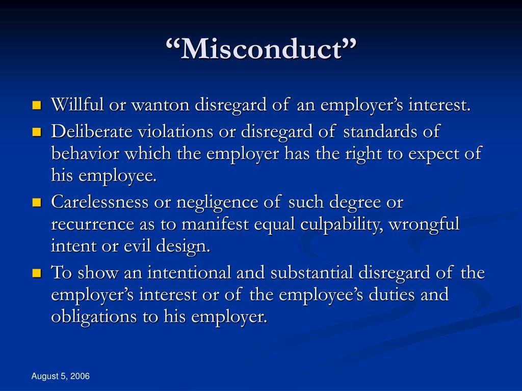 """Misconduct"""