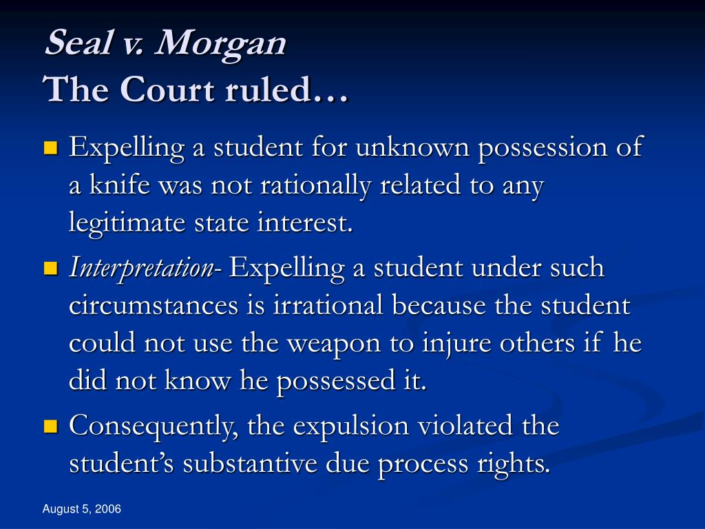 Seal v. Morgan