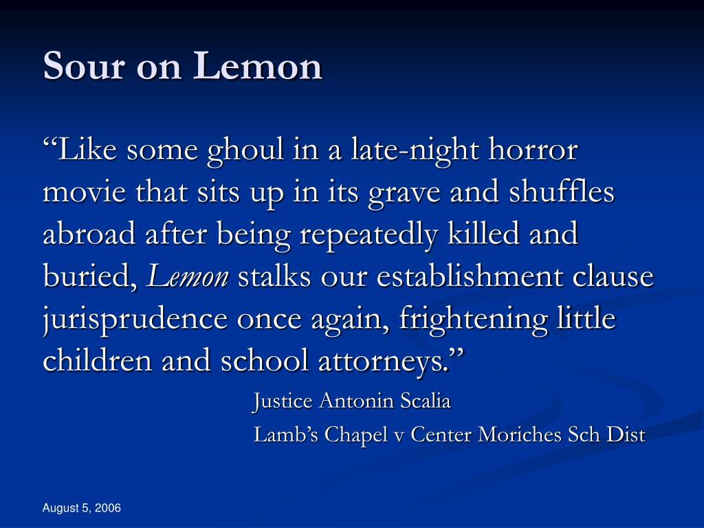 Sour on Lemon