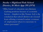 steeby v highland park school district 56 mich app 395 1974