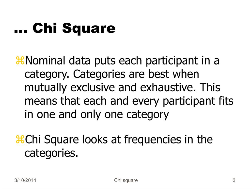 … Chi Square
