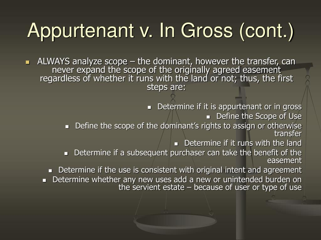 Appurtenant v. In Gross (cont.)