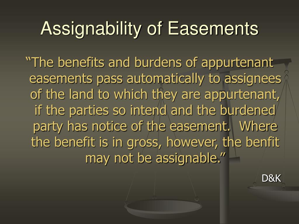 Assignability of Easements