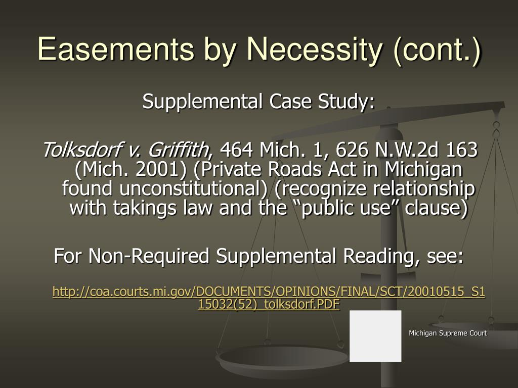 Easements by Necessity (cont.)