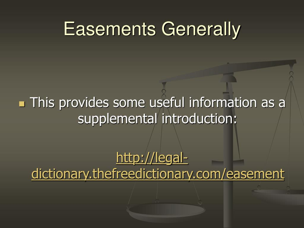 Easements Generally