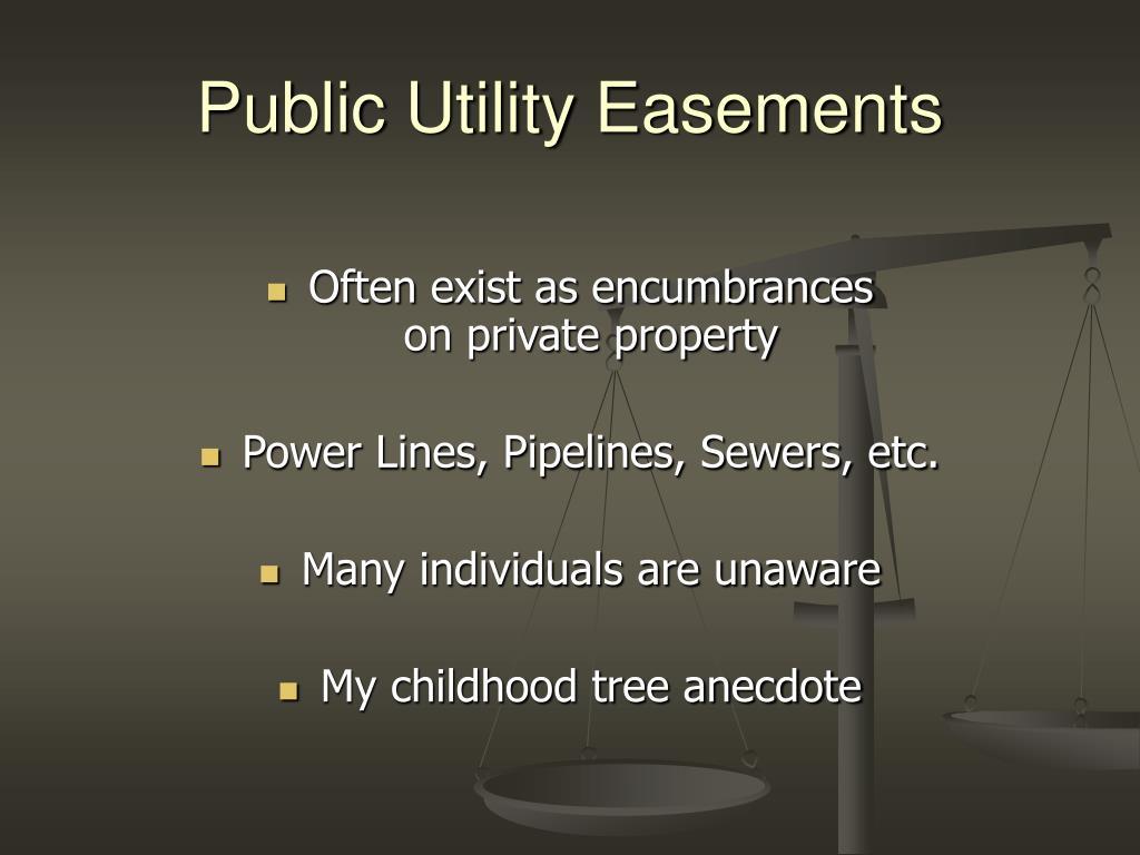 Public Utility Easements